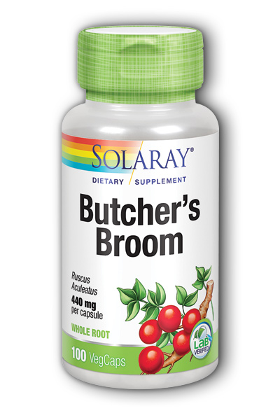 Solaray: Butcher's Broom 100ct 440mg