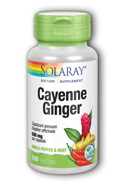 Cayenne & Ginger, 100ct 465mg
