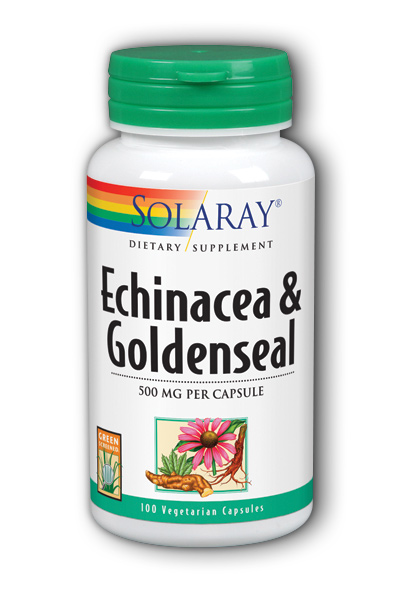 Echinacea Root with Goldenseal Root, 100ct 500mg
