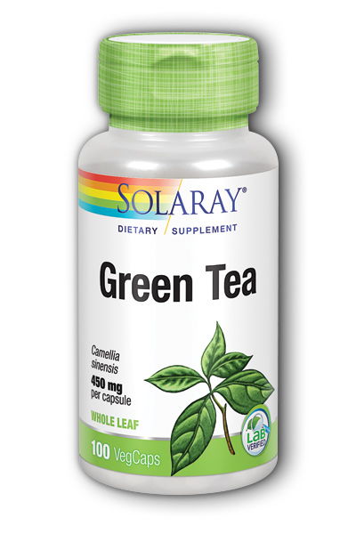 Solaray: Green Tea 100ct 450mg