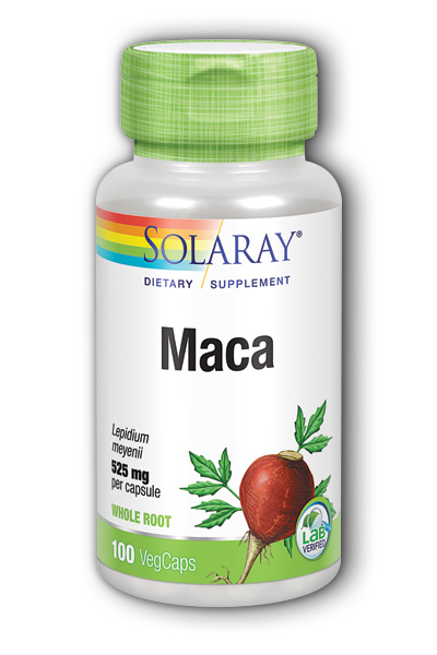 Solaray: Maca Root 100ct 525mg