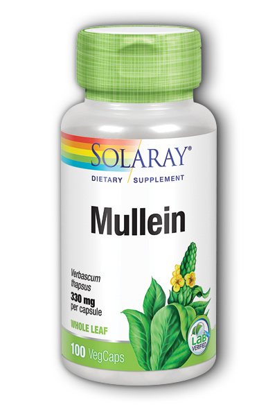 Solaray: Mullein Leaves 100ct 330mg