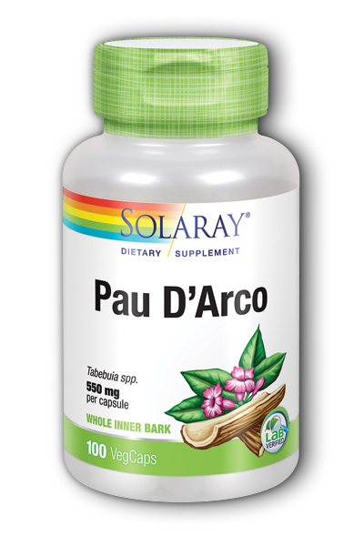 Solaray: Pau D Arco Inner Bark 100ct 510mg