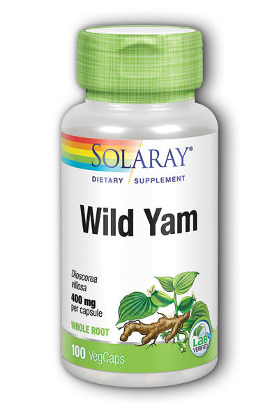 Solaray: Wild Yam Root 100ct 400mg