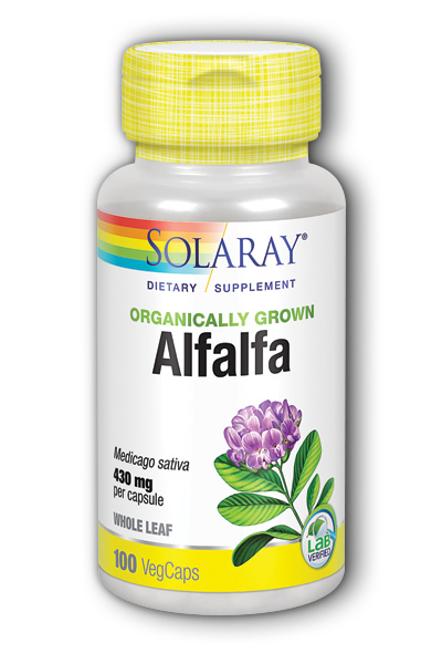 Solaray: Organic Alfalfa 100ct 430mg
