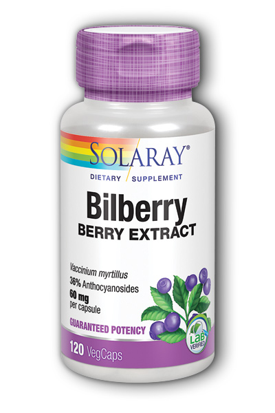 Solaray: Bilberry Extract 120ct 60mg