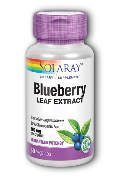 Solaray: Blueberry Leaf Extract 60ct 100mg