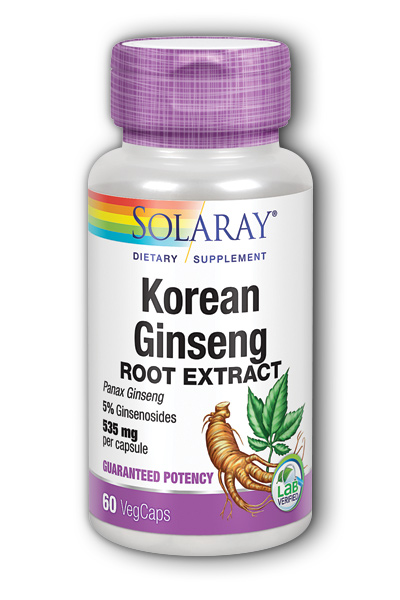 Solaray: Ginseng Root Korean 60ct 535mg