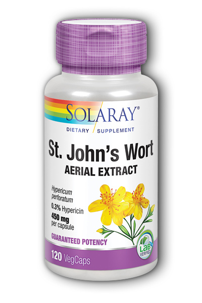Solaray: St. John's Wort Extract 120ct 300mg