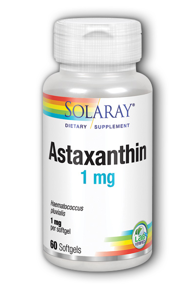 Solaray: Astaxanthin 60ct 1mg