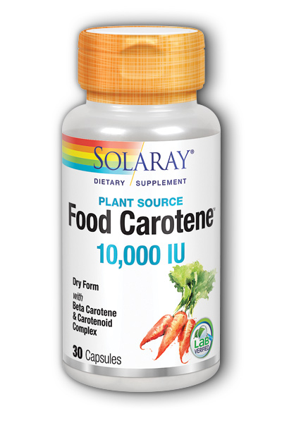 Solaray: Dry Natural Food Carotene 30ct 10000IU