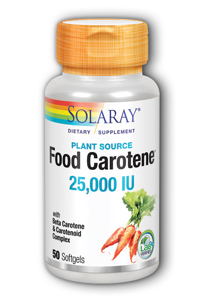 Solaray: Food Carotene 50ct 25000IU