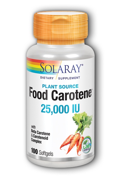 Solaray: Food Carotene 100ct 25000IU Softgel