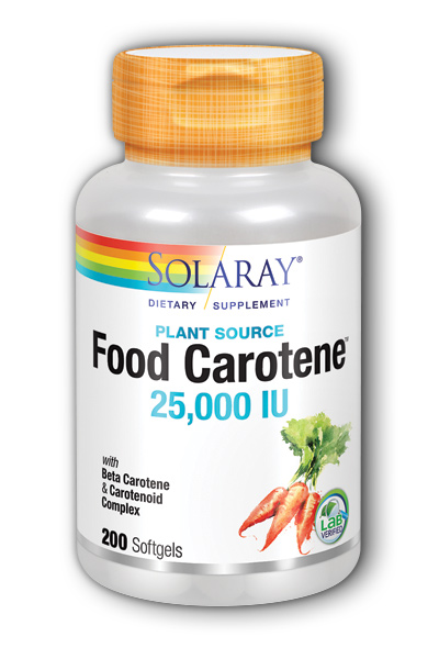 Solaray: Food Carotene 200ct 25000IU
