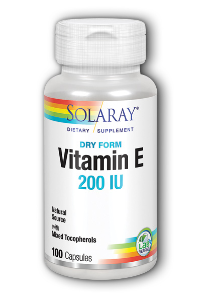 Solaray: Dry Vitamin E-200 100ct 200IU