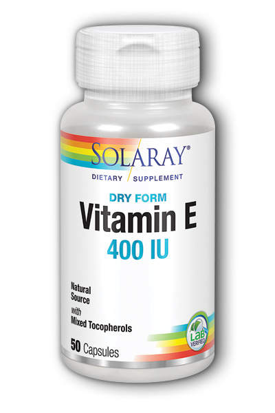 Solaray: Dry Vitamin E-400 50ct 400IU