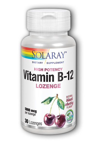 Vitamin B-12 Sublingual Lozenge with Methylcobalamin, 30ct 5000mcg