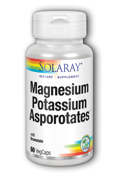 Solaray: Magnesium and Potassium Asporotates with Bromelain 60ct