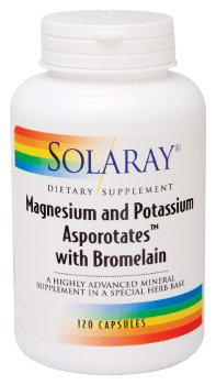 Solaray: Magnesium and Potassium Asporotates with Bromelain 120ct