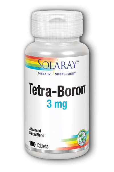 Solaray: Tetra-Boron 3mg 100ct