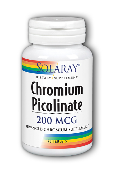 Chromium Picolinate-200, 50ct 200mcg