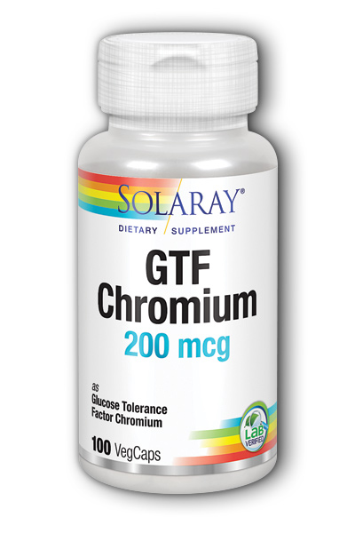 Solaray: GTF Chromium 100ct 200mcg