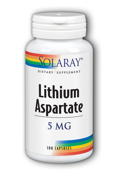 Lithium Aspartate, 100ct 5mg