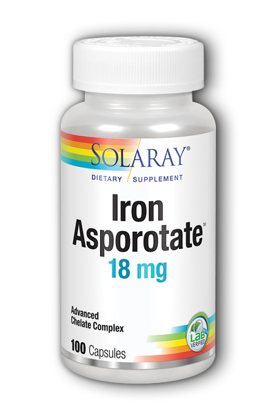Iron Asporotate, 100ct 18mg