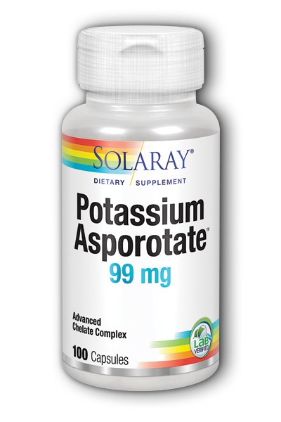 Solaray: Potassium-99 Asporotate 100ct 99mg