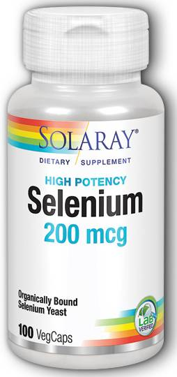 Solaray: Selenium-200 100ct 200mcg