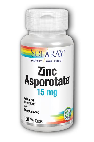 Zinc-15 Asporotate, 100ct 15mg