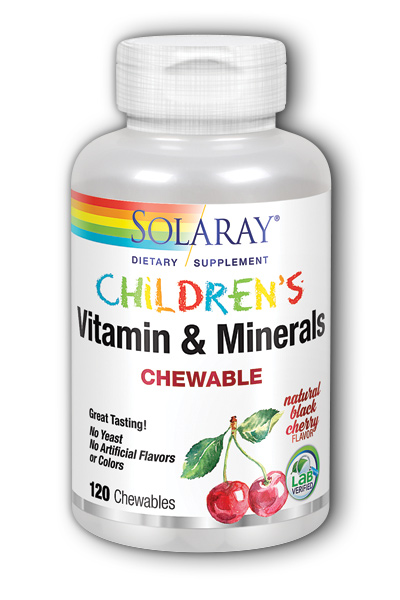 Solaray: Children's Chewable Vitamins & Minerals 120ct