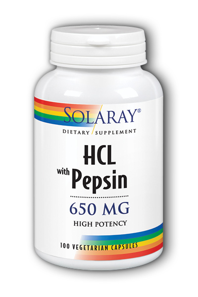 High Potency HCl with Pepsin, 100ct - 650mg