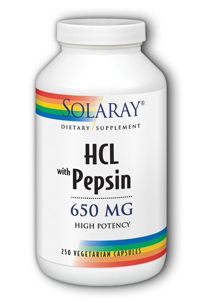 High Potency HCl with Pepsin, 250ct  - 650mg