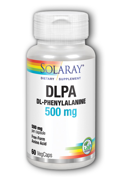 Solaray: Free-Form DL-Phenylalanine 60ct 500mg