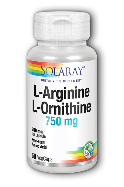 Solaray: Free-Form L-Arginine and L-Ornithine 50ct