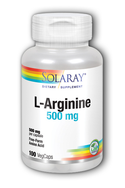 Solaray: Free-Form L-Arginine 100ct 500mg
