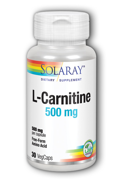 Solaray: Free-Form L-Carnitine 30ct 500mg