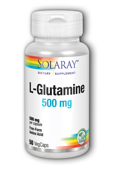 Solaray: Free-Form L-Glutamine 50ct 500mg
