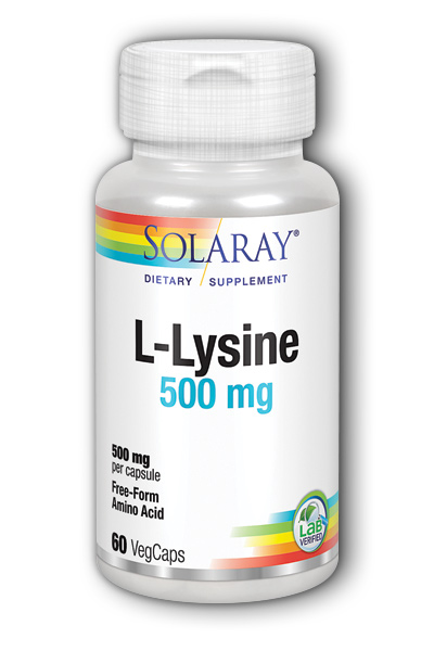 Solaray: Free-Form L-Lysine 60ct 500mg