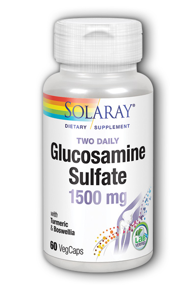 Solaray: Glucosamine Sulfate 60ct 750mg