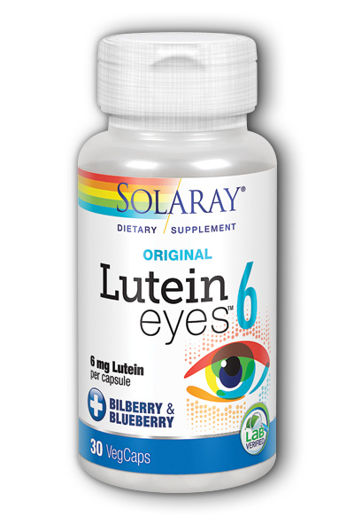 Solaray: Lutein Eyes -6 30ct 6mg