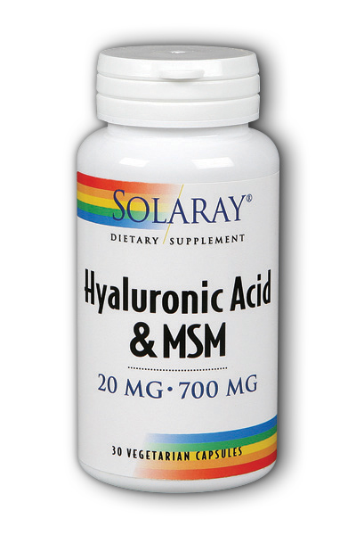 Solaray: Hyaluronic Acid plus MSM 30ct