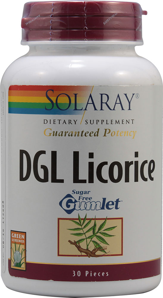 Solaray: DGL Licorice 30 Gumlets