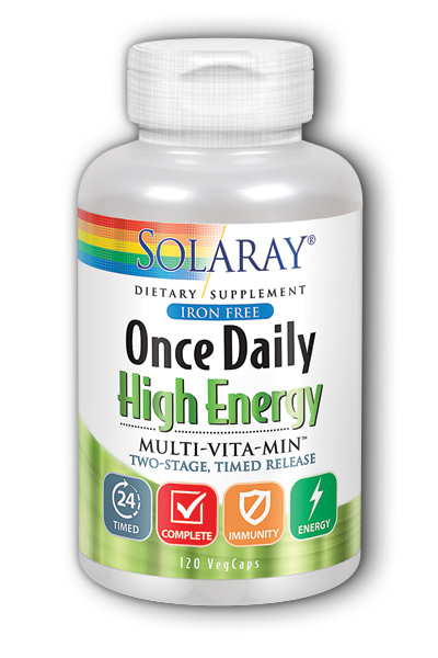 Solaray: Once Daily Iron Free Two Stage, Timed Release 120ct