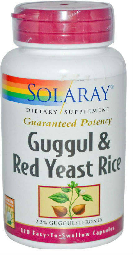 Solaray: Guggul and Red Yeast Rice 120ct