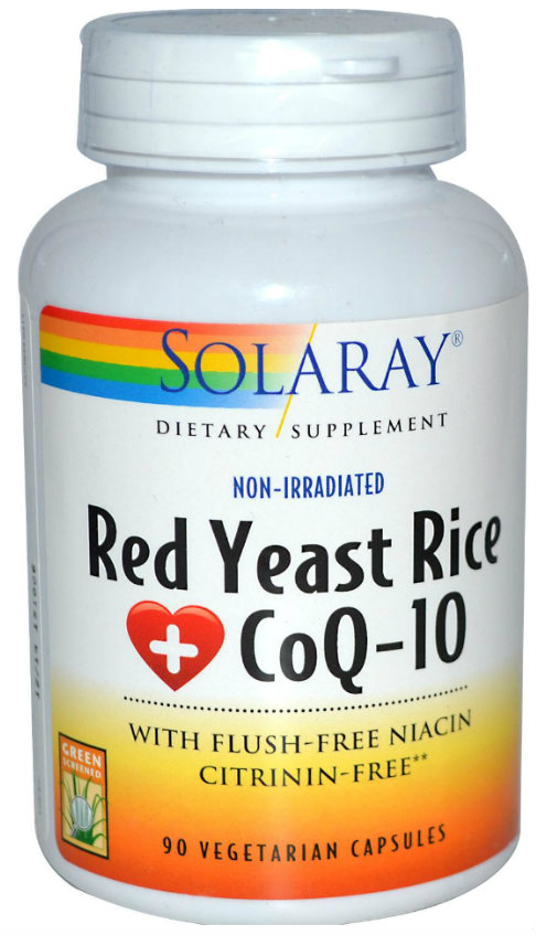 Solaray: Red Yeast Rice Plus CoQ10 90ct