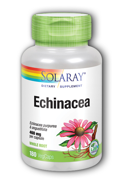 Solaray: Echinacea purpurea, angustifolia 180ct 460mg
