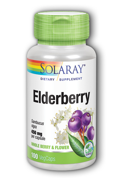 Elderberry Berries and Flowers, 100ct 450mg