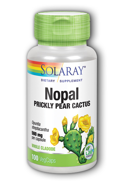 Solaray: Prickly Pear 500mg 100ct Vegetarian Caps